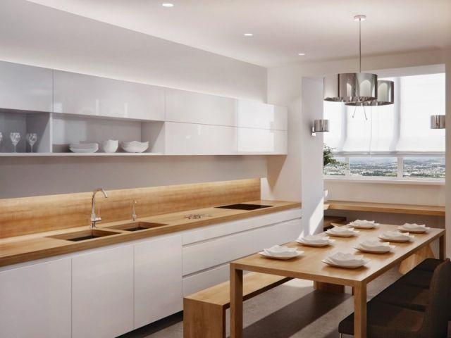 Beige Hochglanz Küche Und Holz Arbeitsplatte Unglaublich On Innerhalb Verzierungen Auf 3
