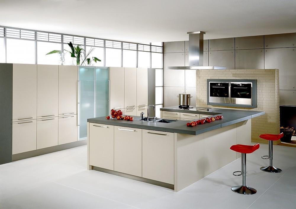 Beige Küche Imposing On Mit Freistehende U Form Vigo In Schichtstoff 7