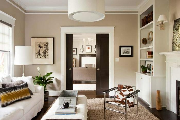 Beige Wandfarbe Weiße Möbel