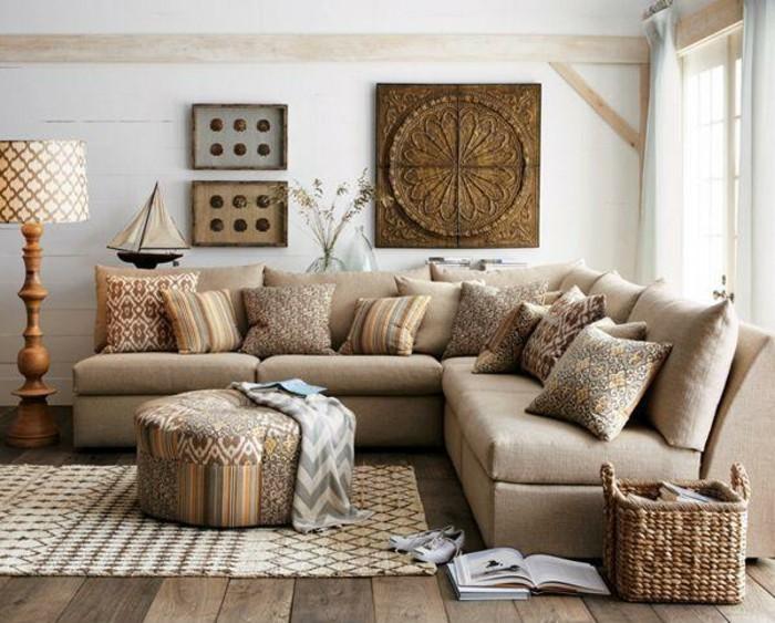 Beige Wohnzimmer Bemerkenswert On In 115 Schöne Ideen Für Archzine Net 8