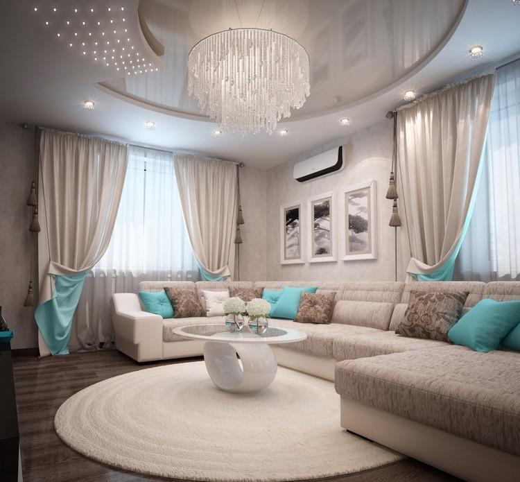 Beige Wohnzimmer Wunderbar On Für In Türkis Einrichten 26 Ideen Und 2
