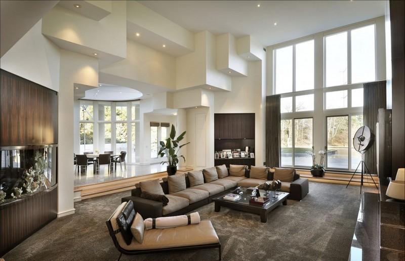 Beige Wohnzimmer Zeitgenössisch On Für In Braun Und Einrichten 55 Wohnideen 6