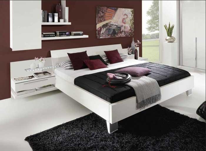 Bett Deko Braun Interessant On Auf Weiß Das Sieht Elegante Im Schlafzimmer Dekoration 1