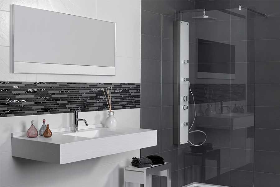 Bordüre Badezimmer Wunderbar On Beabsichtigt Fein Mosaik KogBox Com Home Design Ideas 3