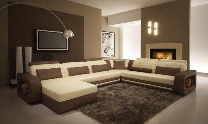 Braun Wohnzimmer Unglaublich On Beabsichtigt Tolle Am Besten Braunes Wohndesign 6