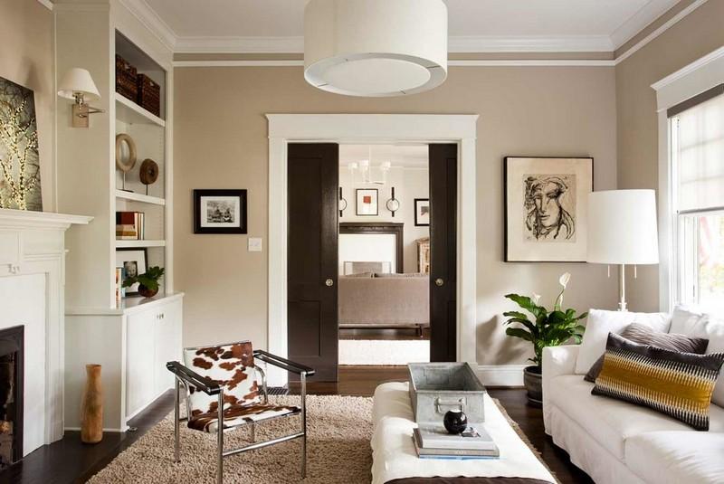 Braun Wohnzimmer Wunderbar On überall In Und Beige Einrichten 55 Wohnideen 5