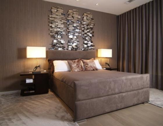 Braune Schlafzimmerwand Einfach On Braun In Schlafzimmer Wand Recybuche Com 2