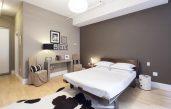 Braune Schlafzimmerwand