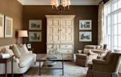 Braune Wand Wohnzimmer