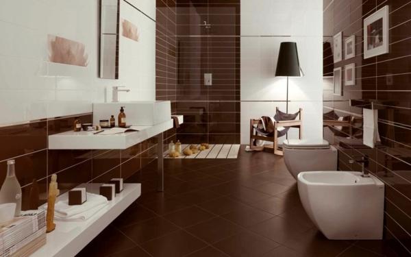 Braunes Badezimmer Charmant On In Bezug Auf Bad Braune Fliesen Messe Wohndesign 2
