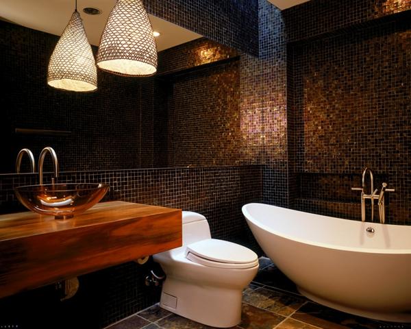 Braunes Badezimmer Wunderbar On Auf Modernes Design Gestaltungsideen Und Tipps 8