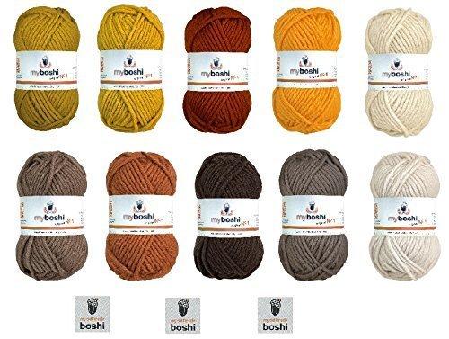 Brauntöne Ausgezeichnet On Braun Auf No 1 Wolle Sortiment 10 X 50 G 5