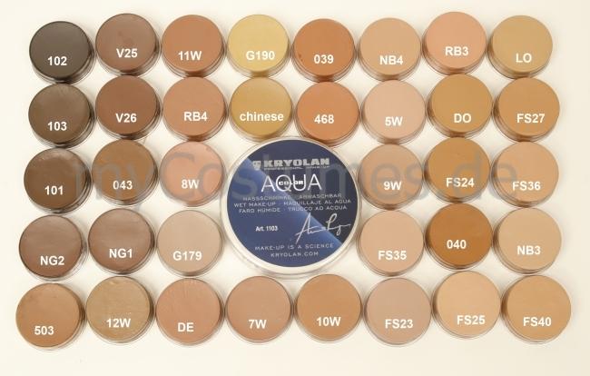 Brauntöne Bemerkenswert On Braun Auf Kryolan Aquacolor 8ml 6 50 2