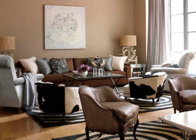 Brauntöne Wandfarbe Stilvoll On Braun In Bezug Auf 31 Wohnzimmer Ideen 4
