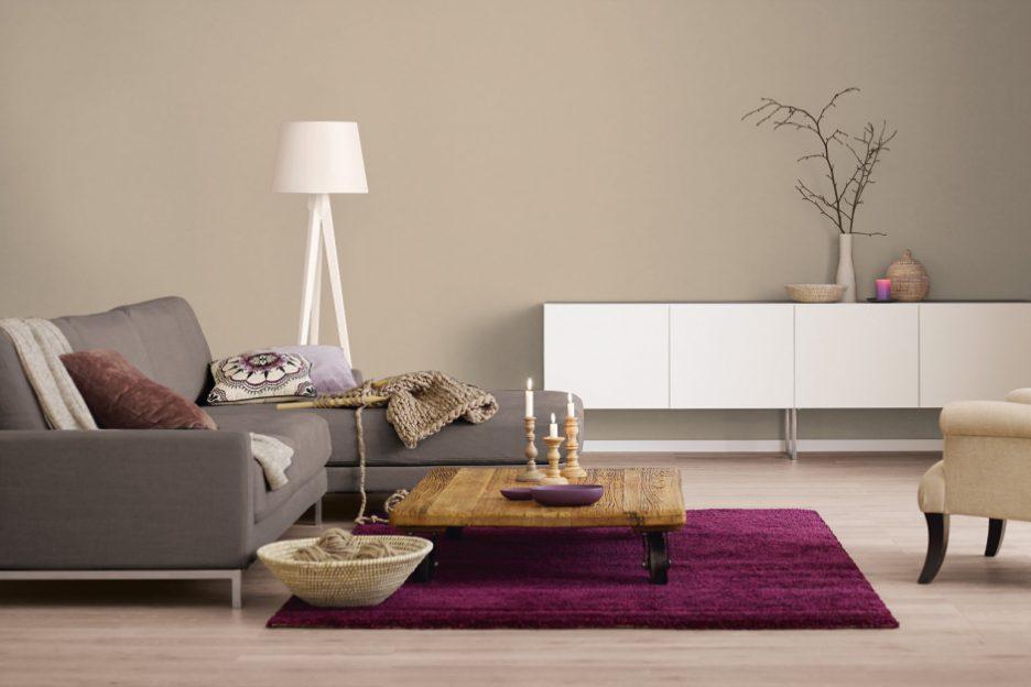 Creme Braun Wandfarbe Zeitgenössisch On überall Wohnzimmer Brauntone Warme 5