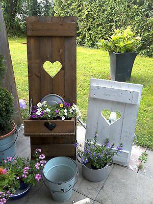 Deko Garten Ausgezeichnet On Andere Auf SHABBY Fensterladen Herz Blumenkasten HOLZ Massiv 4