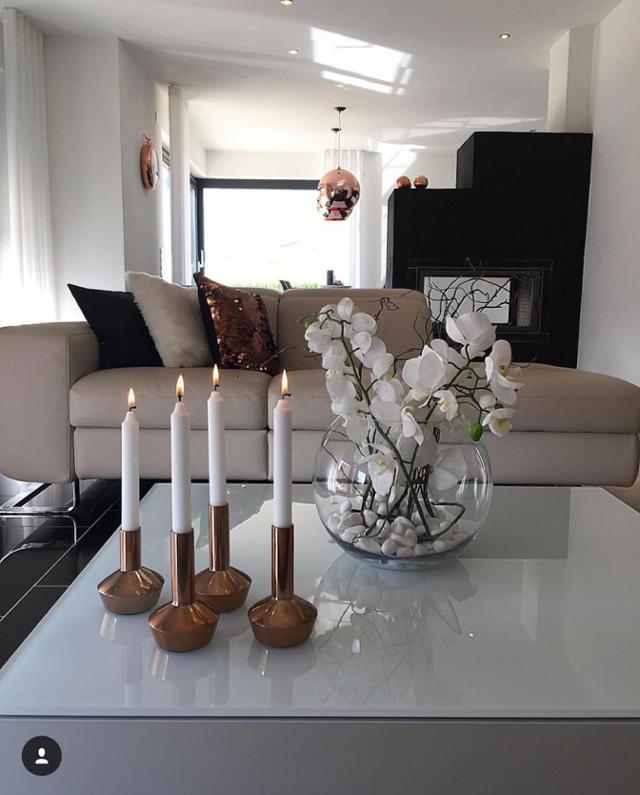 Deko Schwarz Weiß Wohnzimmer Nett On Auf Für Elegant In Weiss Kupfer Kamin 7