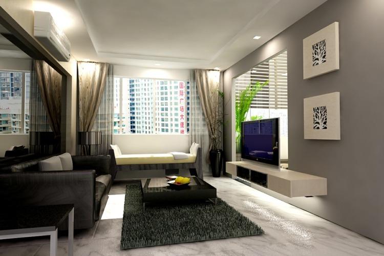 Deko Wohnzimmer Modern Wunderbar On In Glamourös Dekoideen 8