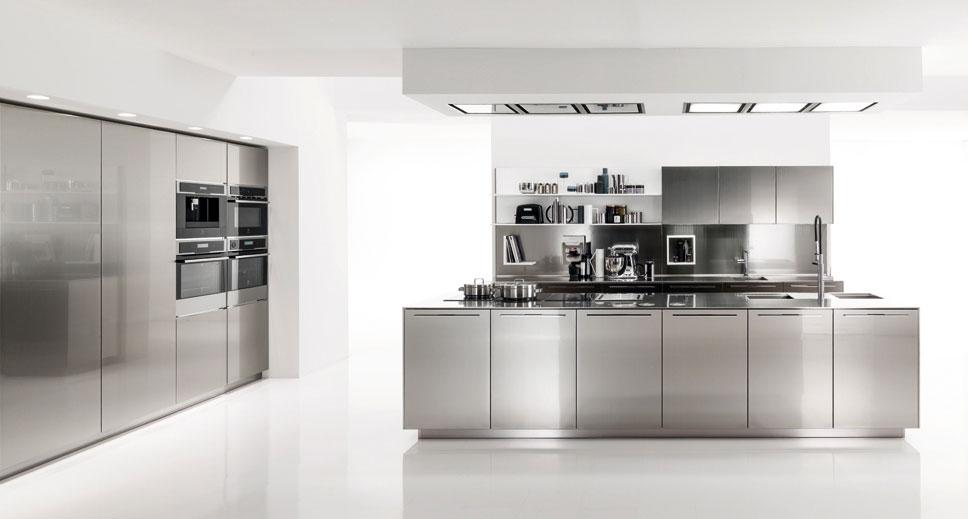 Design Edelstahl Küchen Fein On Andere In Moderne Küche Ideen 7