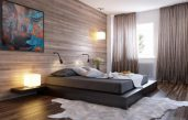 Designer Schlafzimmer Holz