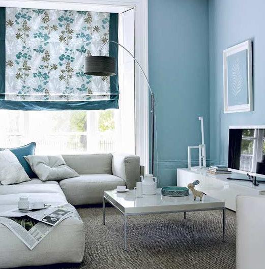 Eine Wand Blau Streichen Wohnzimmer Fein On Innerhalb Govconip Com 2