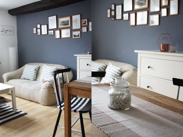 Eine Wand Blau Streichen Wohnzimmer Zeitgenössisch On In Coole Ideen Mit Ombre Streichtechnik Für Moderne 5