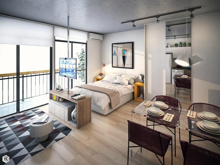 Einraumwohnung Gestalten Exquisit On Andere Auf Einrichten Zimmer Mit Praktischen Wohnideen 6
