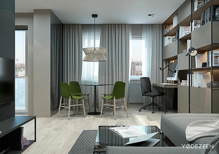 Einraumwohnung Gestalten Stilvoll On Andere Mit Einrichten Zimmer Praktischen Wohnideen 4