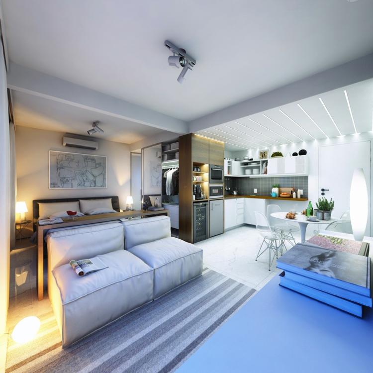 Einzimmerwohnung Einrichten Einfach On Andere Innerhalb 1 Zimmer Wohnung 13 Apartments Als Inspiration 6