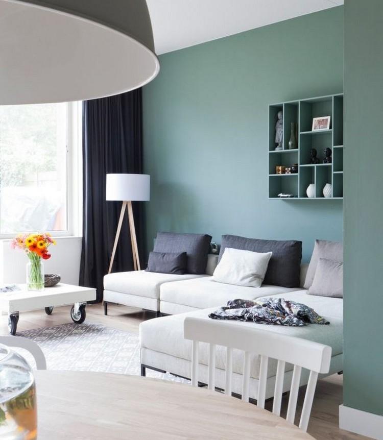 Farben Fürs Wohnzimmer Wände Großartig On Und Trendige Für Die Wohnzimmerwände 25 Ideen 3