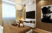 Fernseher An Der Wand Im Schlafzimmer