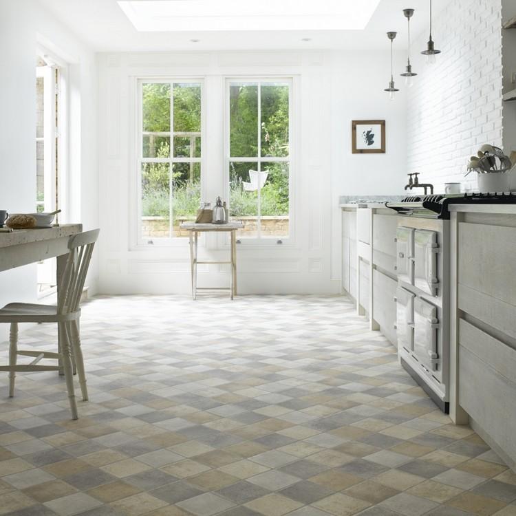 Fliesen Küchenboden Ausgezeichnet On Andere überall Bodenbelag Für Küche 6 Ideen Unterschiedliche Materialien 4