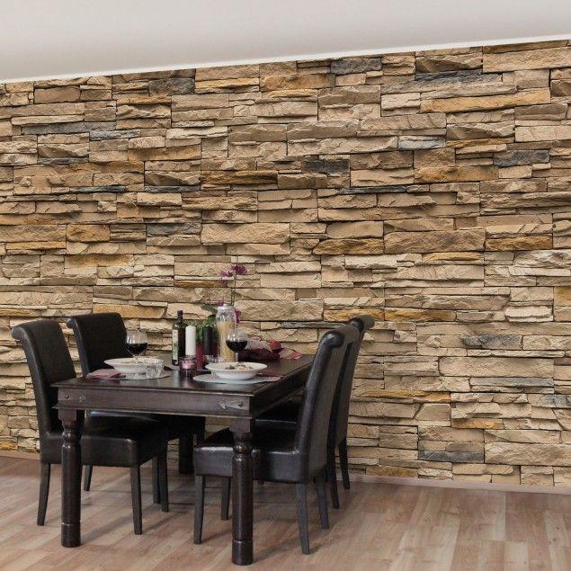 Fototapete Steinmauer Wohnzimmer Bescheiden On Innerhalb Elegant Innen Designs Auch Die 3