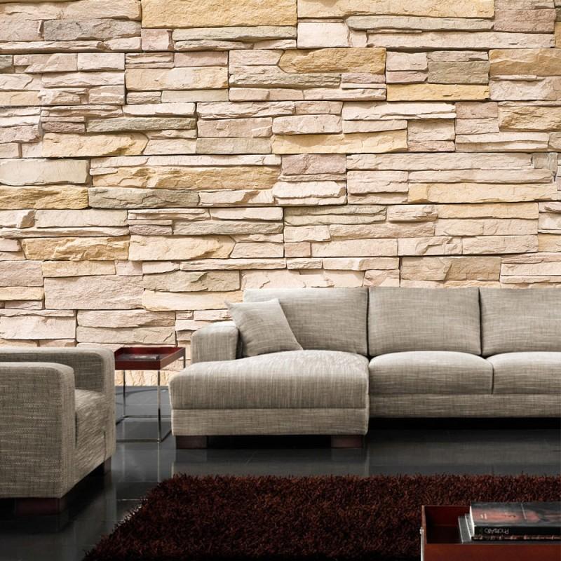 Fototapete Steinmauer Wohnzimmer Zeitgenössisch On Beabsichtigt Imposing 3D Stein Asian Stone Wall Steinwand Tapete 2