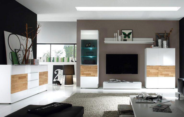 Frisch On Wohnzimmer Für Einnehmend Modern Weiss 9