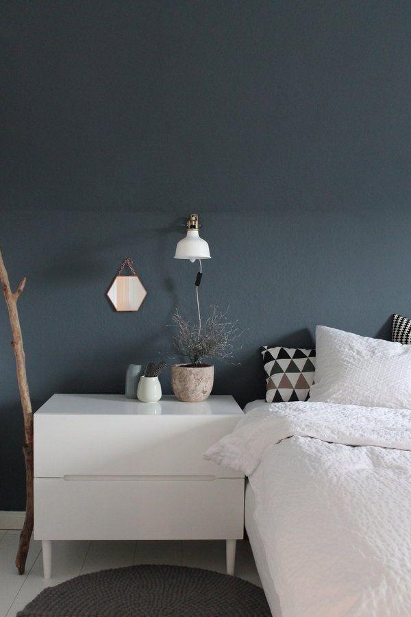 Graue Wände Im Schlafzimmer Welche Gardinenfarbe Passt Dazu