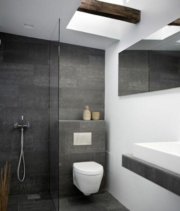 Graues Badezimmer Exquisit On Auf Zeitplan Einfach Fliesen Grau Bad Wohndesign 2
