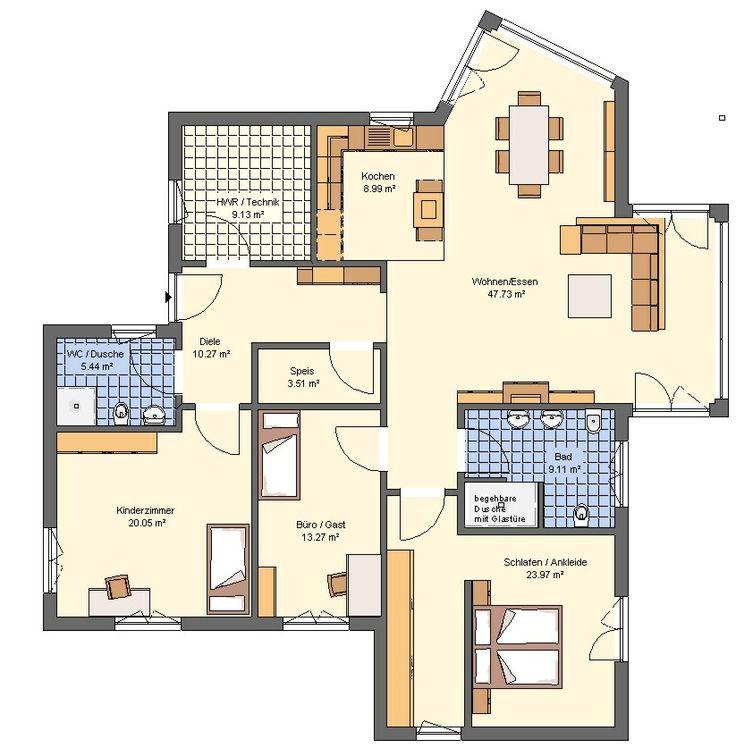 Grundriss Modern Stilvoll On Auf Haus 3D Architecture 3d Luxury Home Plan With 9