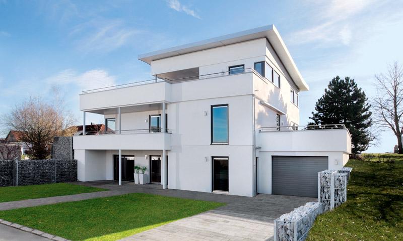 Haus Modern Bauen Unglaublich On Für Ruptos Com Wohnzimmer Mit Kche Braun Beige 7