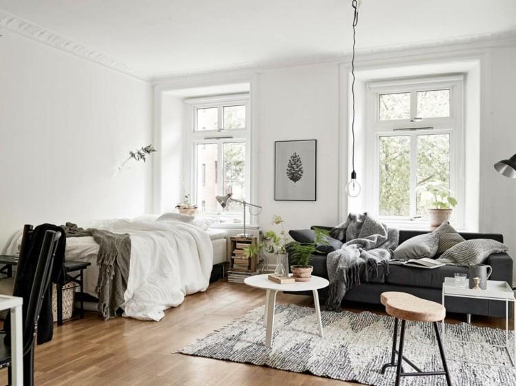 Ideen 1 Zimmer Wohnung Einrichten Erstaunlich On Beabsichtigt Im Skandinavischen Stil Room 6