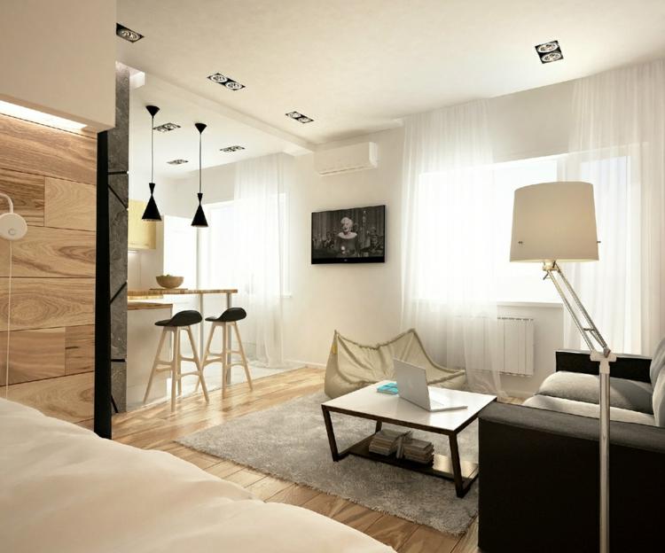 Ideen 1 Zimmer Wohnung Einrichten Zeitgenössisch On überall Frisch 13 Apartments Als 2