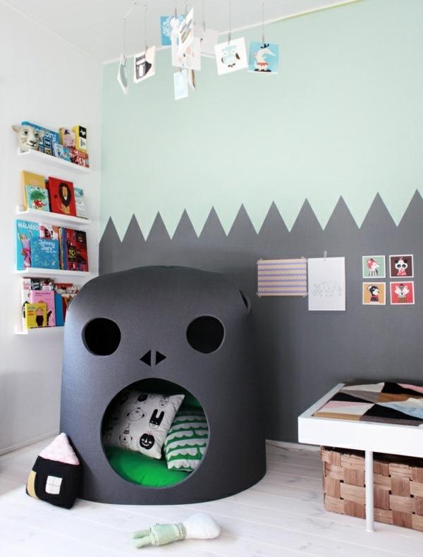 Ideen Für Wände Im Kinderzimmer Glänzend On Mit Imitieren Wand 5