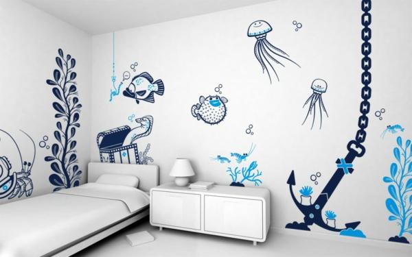 Ideen Für Wände Im Kinderzimmer Nett On In Optimal Best Wnde 8