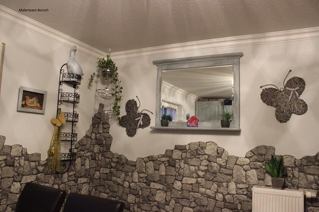 Ideen Steintapete Exquisit On Mit Kleines Wohnzimmer Steintapeten In 3d Optik 1