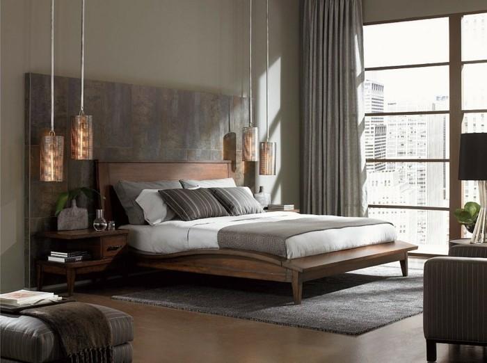 Ideen Wände Gestalten Schlafzimmer Bemerkenswert On Mit 50 Beruhigende Für Wandgestaltung Archzine Net 3