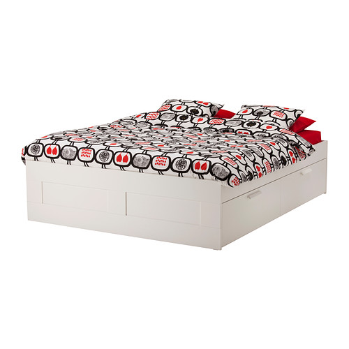 Ikea Bett Modern On Andere überall BRIMNES Bettgestell Mit Schubladen 140x200 Cm IKEA 9