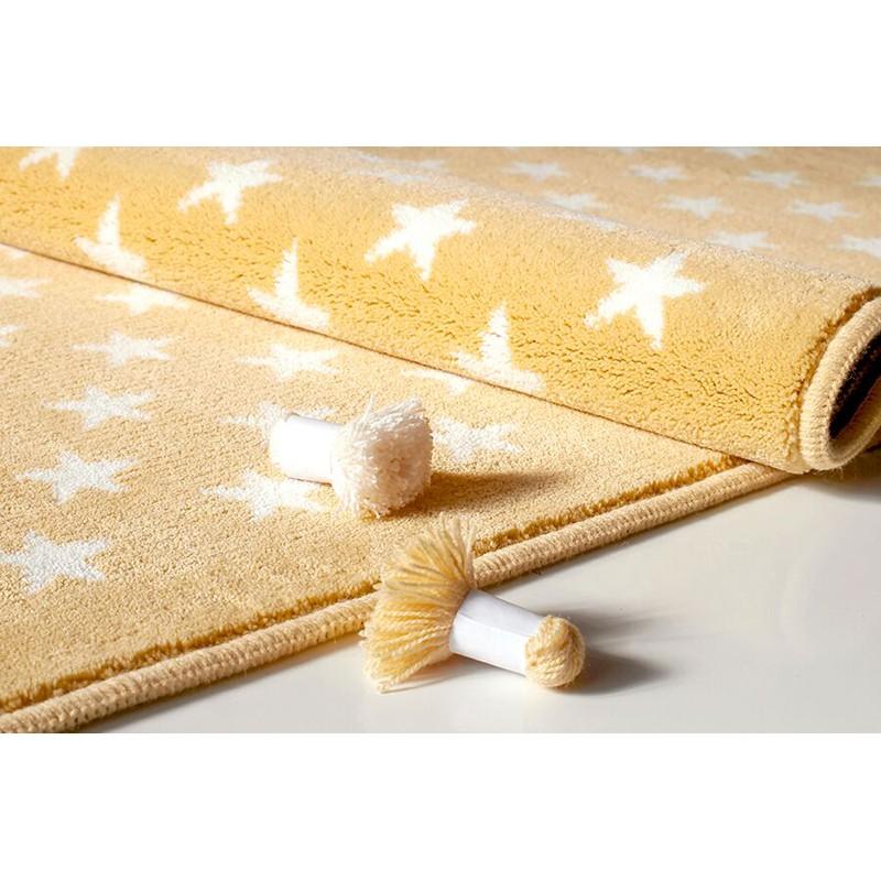 Kinder Teppich Beige Gelb Einzigartig On Und Lorena Canals Kinderteppich Mit Sternen In 3