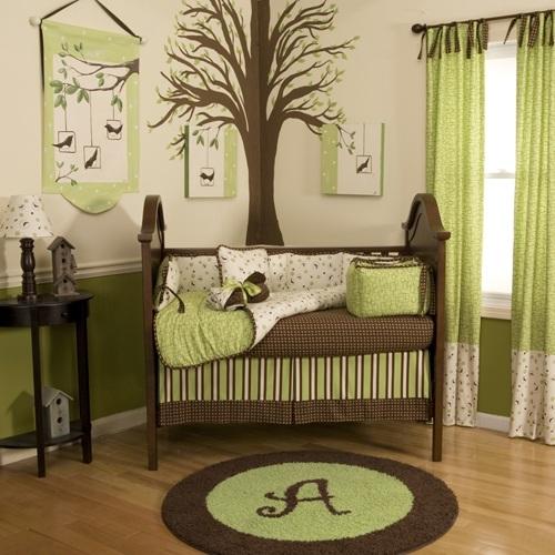 Kinderzimmer Braun Einfach On In Bezug Auf Lindgrün Babyzimmer Einrichten Gardinen Baum Bemalen 4