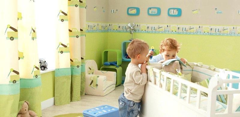 Kinderzimmer Braun Grün Glänzend On Und Babyzimmer Wandgestaltung Junge Grun Gra 1 4 N 8