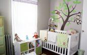 Kinderzimmer Braun Grün